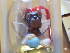 1 Dozen BOXER Dog Figurine Brass Bells By DNC Arcadia 12 Pc Lot Save Orniments