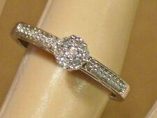 JWBR .925 STERLING SILVER DIAMOND LADIES RING SIZE 7, SCROLL DESIGN