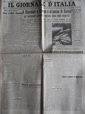 Giornale D' Italia 22-03-1941 - Attacchi inglesi Giarabub Cheren Passo Dab [C75]