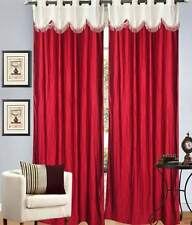 Elegance red  4v design polyester door curtain (EK011)