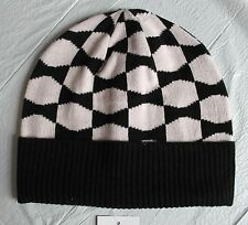 Kate Spade New York Signature Bow Beanie Hat Black & Pastry Pink 0ne size New
