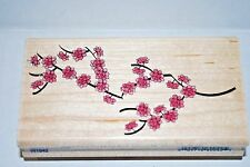 SALE! ASIAN CHERRY BLOSSOMS FLOWERS LARGE RUBBER STAMP BY STAMPABILITIES NEW