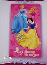 Disney Princess Wishes Pink Printed Velour Beach Towel 75cm x 150cm New