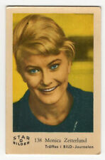 1960s Swedish Film Star Card Bilder D #138 Singer Actress Monica Zetterlund