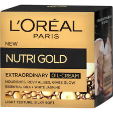L'Oreal Loreal Nutri Gold Nourishing Extraordinary Oil Cream All Skin Types 50ml