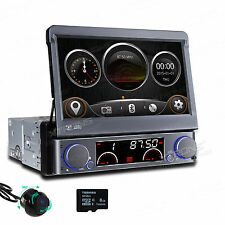 "7"" Flip Out Car Stereo DVD GPS System Bluetooth Radio Screen Mirror 360° Camera"