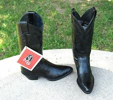 NEW JUSTIN  REAL IQUANA LIZARD  COWGIRL BOOTS  4.5' B