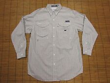 COLUMBIA SUPER BONEHEAD PFG MENS L/S FISHING SHIRT SIZE LARGE TALL