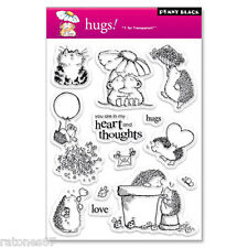 New Penny Black HUGS Clear Stamps Valentine's Hearts Critters Flowers Love Kitty