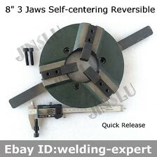 8 Inch 3 Jaw Self-centering Welding Table Chuck WP-200 200mm Reversible
