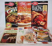 Lot of 7 Recipe Books Betty Crocker Duncan Hines Pillsbury Campbells
