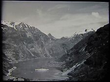 Glass Magic Lantern Slide SHIP AT MEROK DATED 20 JULY 1938 PHOTO NORWAY