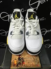 Authentic Nike Air Jordan 4 IV Retro LS Tour Yellow Blue Grey White Size 10.5