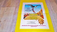 TINTIN et le temple du soleil !  affiche cinema animation , bd dessin