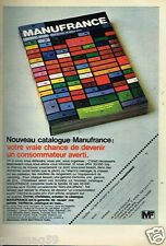Publicité advertising 1974 Nouveau catalogue Manufrance