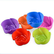 10 Pcs/ Set Rose Silicone Cake Baking Mould Jelly Pudding Mold Muffin Cup Case