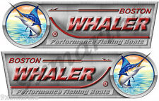 "Boston Whaler Designer Decal Set. Left/Right 10"" X 3.5"" each- laminated"