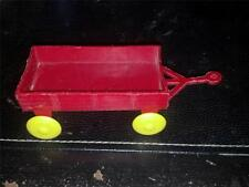 T. Cohn Farm Implement - Red Plastic Wagon with Yellow Wheels.