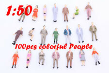 100 Painted Model People Figures Street Scenes O 1:50 Scale for Building Layout
