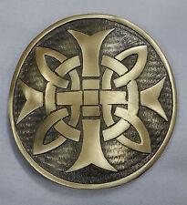 NUOVI Pantaloncini Uomo Kilt fibbia della cintura Celtico rotondo finitura anticata/celtica swirl fibbie per cintura