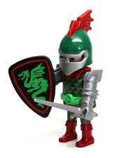 Playmobil Figure Custom Castle Dragon Slayer Knight w/ Shield Helmet Sword 3345