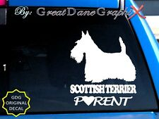 Scottish Terrier PARENT(S) - Vinyl Decal Sticker / Color Choice - HIGH QUALITY