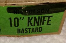 One Single 10 Inch Knife Bastard Cut Vintage Nicholson NOS File