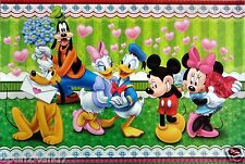 """DISNEY """"IN LOVE!"""" POSTER - Mickey & Minnie Mouse,Donald & Daisy Duck,Pluto,Goofy"""
