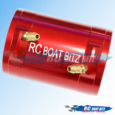 RC Boat Traxxas M41 36mm upgrade motor cooling jacket red