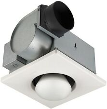 Bathroom Ceiling Exhaust Fan Light Infrared 1-Bulb 250W Heater Bath Vent 70 CFM