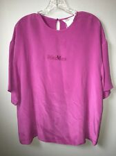 "Max Mara Italy Silk ""finezza"" Purple Shirt 8 NWT $595"