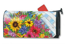 BLOOMING BASKET mailbox cover - attaches with magnets - MADE IN USA
