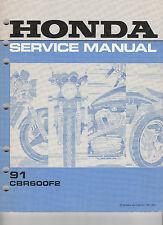 1991 CBR600F2 SERVICE MANUAL 61MV900