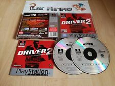 PLAY STATION PSX PS1 DRIVER 2 BACK ON THE STREETS PLATINUM  COMPLETO PAL ESPAÑA