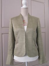 PHASE EIGHT Olive Khaki Green Satin Formal Occasion Wedding Evening Jacket 12 38