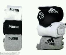 Combo Set of 6 pairs Adidas and Puma logo Sports ankle length Socks