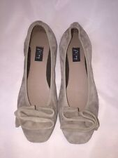FSNY FRENCH SOLE NEW YORK FLATS SIZE 7 GRAY SUEDE FS NY WORN ONCE!