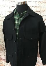 NEW $415 Filson Mackinaw Cruiser Jacket Size 40 Extra Long Medium Wool Black