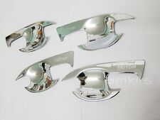 CHROME COVER HANDLE INSERT BOWL FOR MITSUBISHI L200 TRITON 4 DOORS PICKUP 2015+