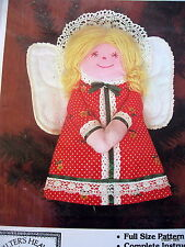 "Christmas Angel Tree Topper Craft pattern Vtg 80s 11"" Quilters Heaven"