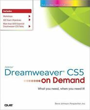 Adobe Dreamweaver CS5 on Demand, Perspection Inc., Johnson, Steve, Good Conditio