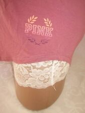 Victoria's Secret PiNK Tank Top Shirt Stretch Jersey Soft Begonia NWT L
