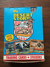 1991 Topps Desert Storm Coalition  Peace Cards; 36 unopened  box & special bonus