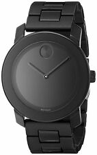 Movado Bold 42 mm Large Black Dial Black Bracelet Mens Watch 3600047