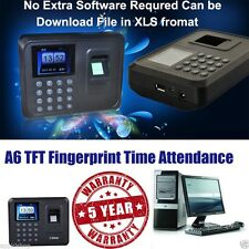 Brand NEW A6 Biometric Fingerprint Based Time & Attendance  Machine USB Plug