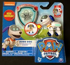 Nickelodeon Paw Patrol Robo Dog Action Pack Pup & Badge, New