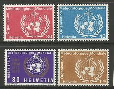 SWITZERLAND. 1973. Meteorological Organisation. SG: LM10/13. Mint Never Hinged.