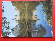 POSTCARD NORTHUMBERLAND WARKWORTH CASTLE - REFLECTIONS IN THE RIVER