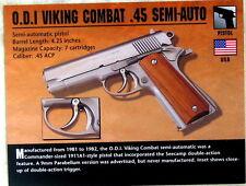Classic Firearms LOT of FOUR CARDS inc. O.D.I Viking Combat .45 Semi-Auto u