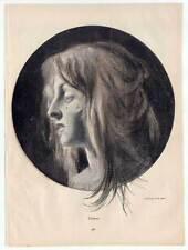 """Tränen - Mädchen-Portrait aus Münchner """"Jugend"""" 1896 H. Moest"""
